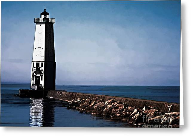 Frankfort Michigan Lighthouse Greeting Card by JRP Photography