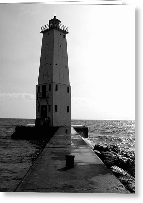 Frankfort Michigan Lighthouse Ll Greeting Card by Michelle Calkins