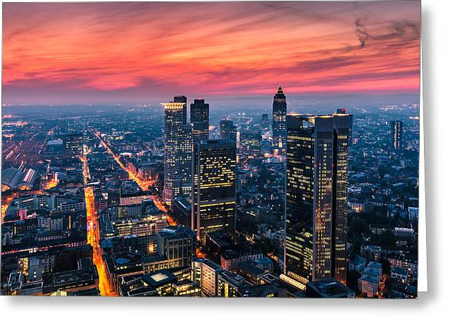 Frankfurt 04 Greeting Card by Tom Uhlenberg