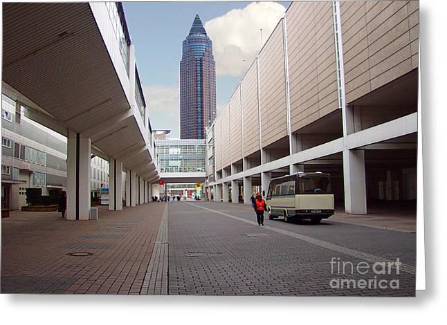 Frankfurter Messe Turm Greeting Card