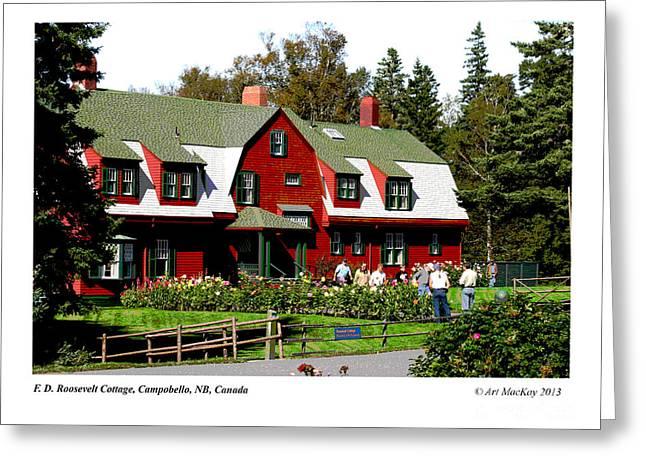 Franklin D. Roosevelt Cottage Campobello Nb Greeting Card