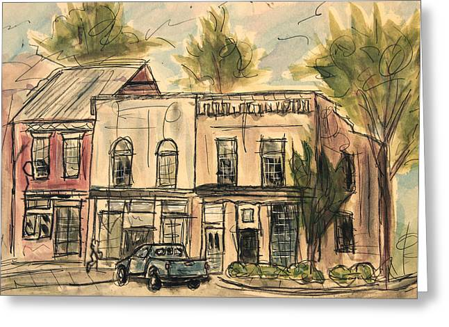 Franklin Facelift Greeting Card by Tim Ross