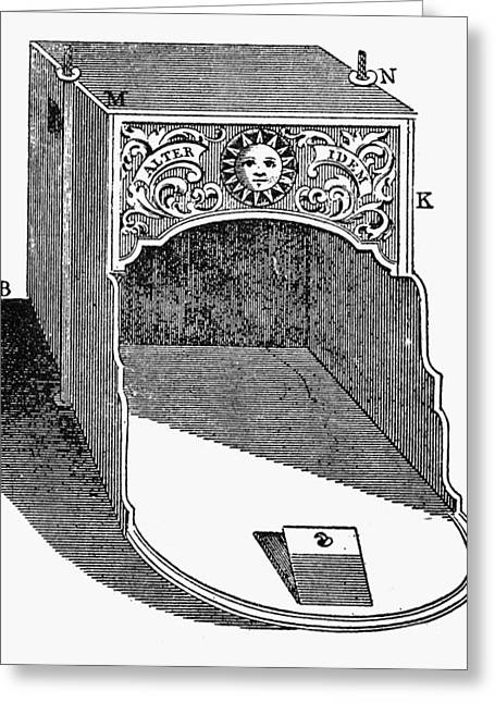 Franklin: Fireplace, 1745 Greeting Card by Granger