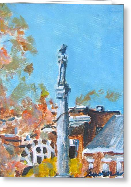 Franklin Square Greeting Card by Susan E Jones
