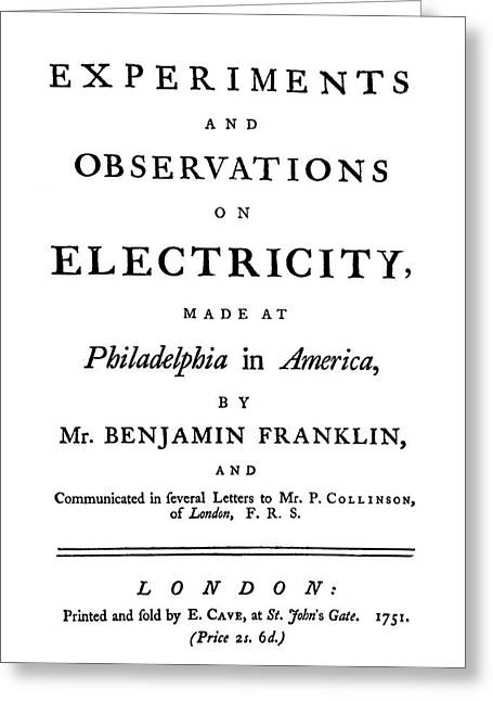 Franklin Title-page Greeting Card