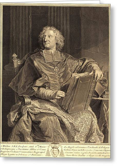 François Chereau I After Hyacinthe Rigaud Greeting Card by Litz Collection
