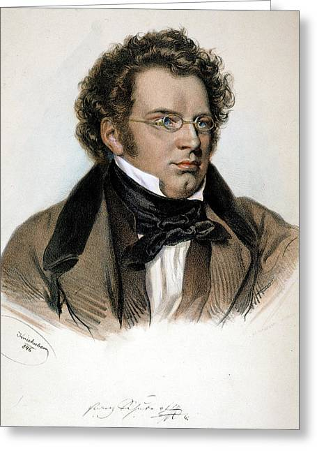 Franz Peter Schubert (1797-1828) Greeting Card by Granger
