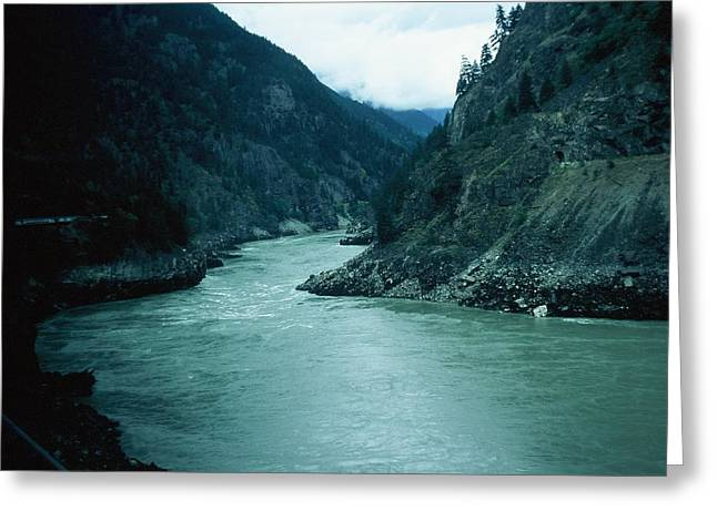 Fraser River Greeting Card by Dick Willis