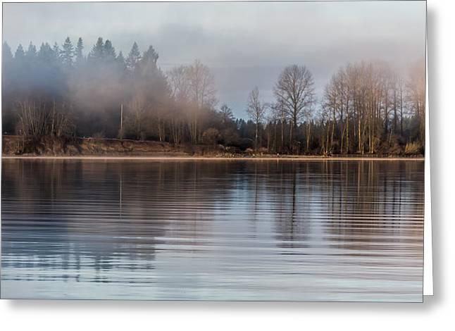 Fraser River Misty Morning Greeting Card