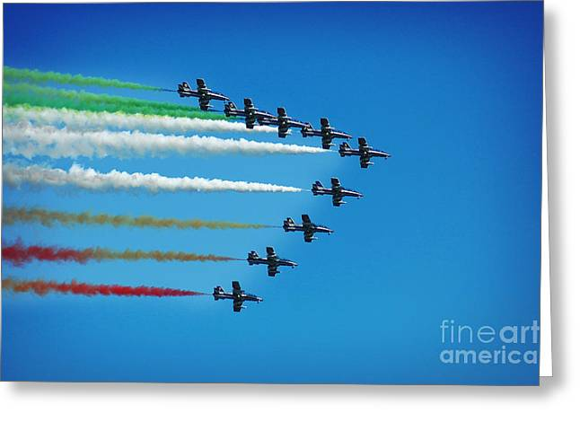 Frecce Tricolori Aerobatics Team Greeting Card