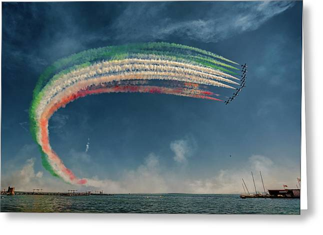 Frecce Tricolori Greeting Card by J. Antonio Pardo