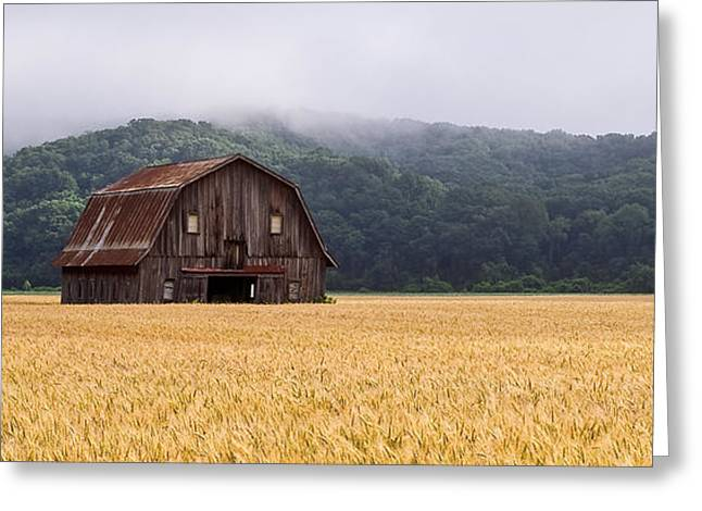 Greeting Card featuring the photograph Frechman Barn - Summer by Wayne Meyer