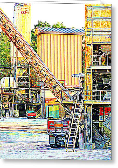 Greeting Card featuring the photograph Fred And Barney At Work The Quarry At Ashcom Pa by Mary Beth Landis