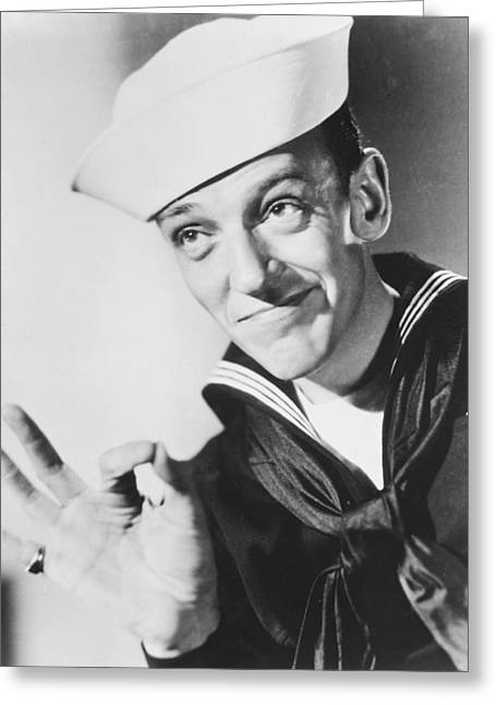 Fred Astaire In Follow The Fleet  Greeting Card by Silver Screen