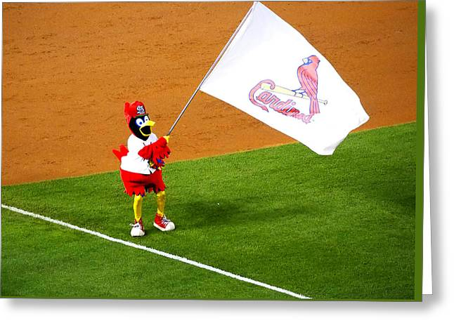 Fredbird Celebrates A Win Greeting Card