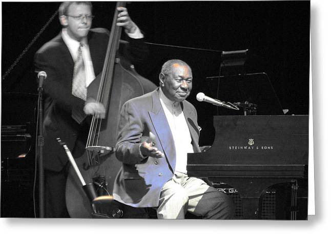 Freddy Cole And Elias Bailey Greeting Card by Cleaster Cotton
