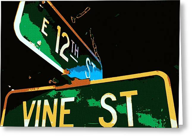 12th Street And Vine Greeting Card by Chris Berry