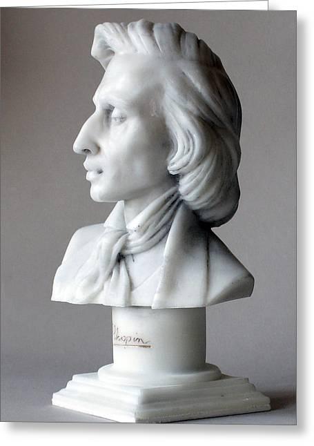 Frederic Chopin Bust Greeting Card by Andrew Szczepaniec SETTA