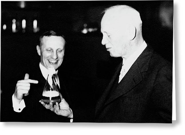 Frederick Novy And H. J. Cooper Greeting Card by American Philosophical Society