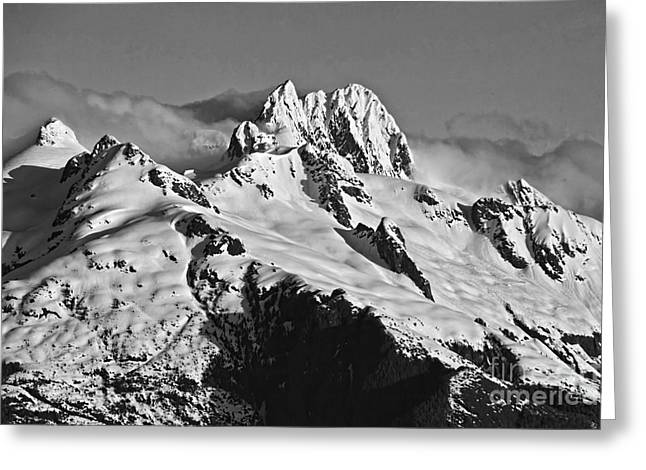 Greeting Card featuring the digital art Frederick Sound  Alaska by Shirley Mangini