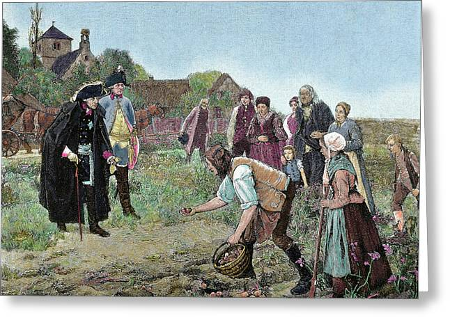 Frederick The Great (1712-1786 Greeting Card
