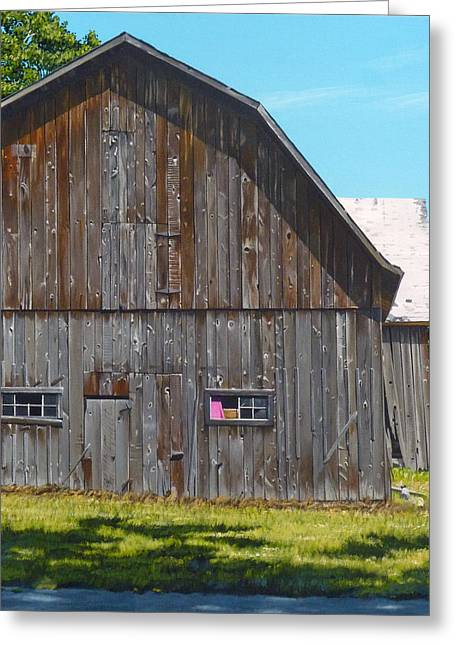 Frederickson Road Greeting Card by Michael Ward