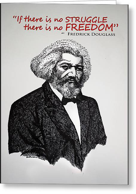 Fredrick Douglass Greeting Card by Sushobha Jenner