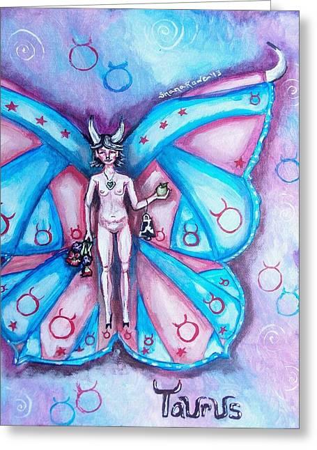 Free As A Taurus Greeting Card