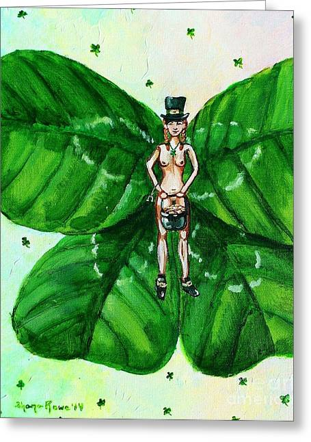 Free As St. Patrick's Luck Greeting Card