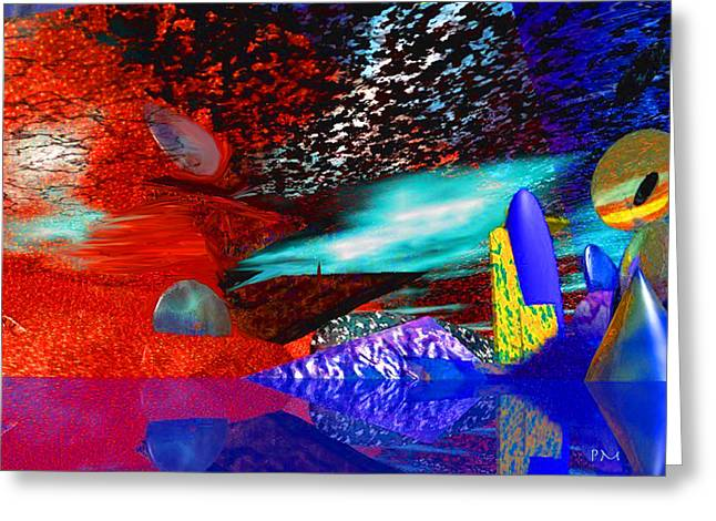 Free Association 1 Greeting Card by Phillip Mossbarger