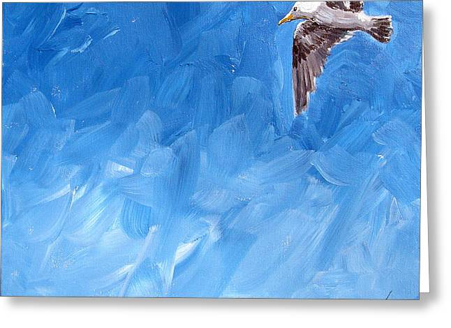 Free Bird Greeting Card by Gregory Peters