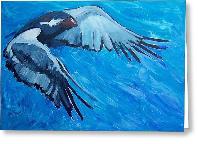 Free Bird Greeting Card by Krista Ouellette