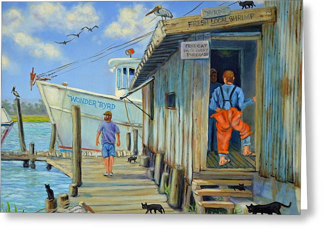 Greeting Card featuring the painting Free Cats Ll by Dwain Ray