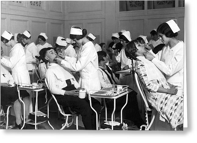 Free Dental Help For Children Greeting Card by Underwood Archives