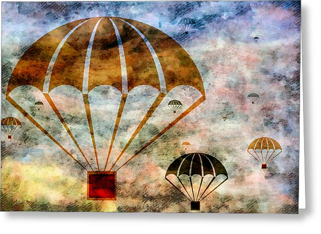 Free Falling Greeting Card by Angelina Vick