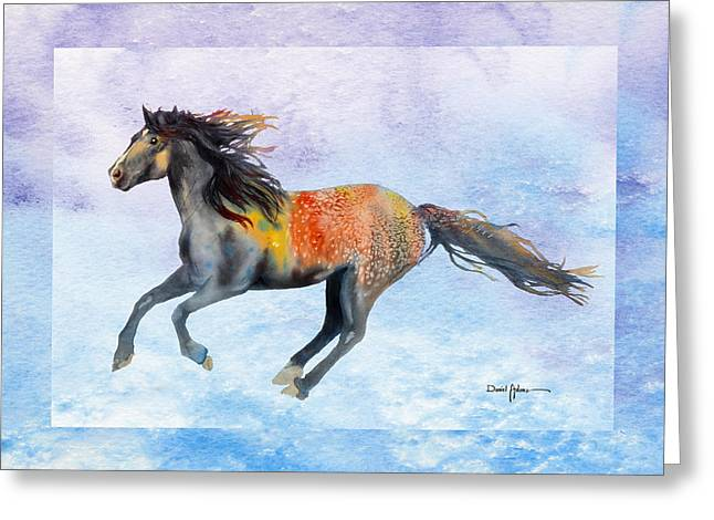 Da114 Free Gallop By Daniel Adams Greeting Card