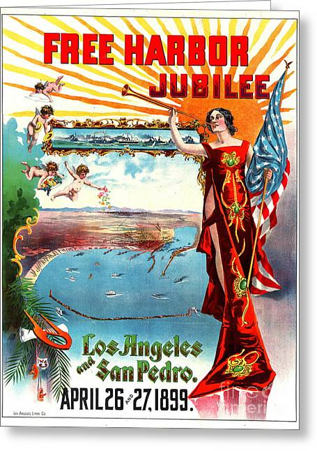 Free Harbor Jubilee 1899 Greeting Card