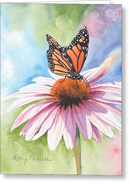 Free Indeed Greeting Card by Kathy Nesseth
