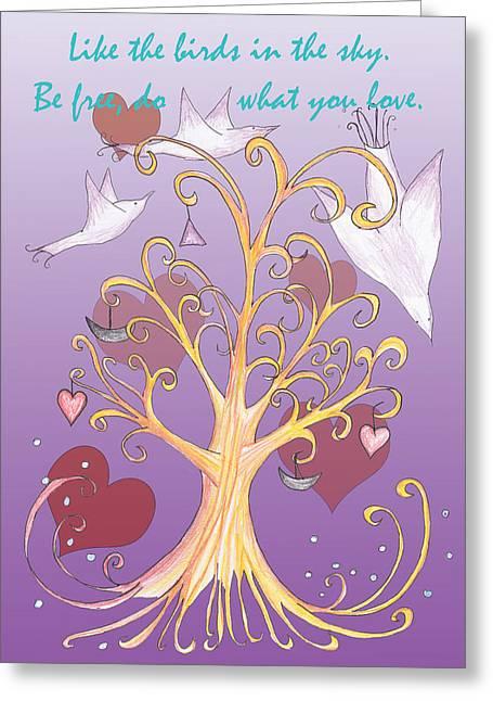 Free Like A Bird Words Of Wisdom Greeting Card