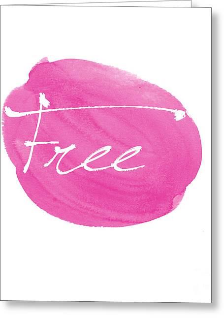Free Pink Greeting Card by Marion De Lauzun