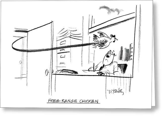 Free-range Chicken Greeting Card by Donald Reilly