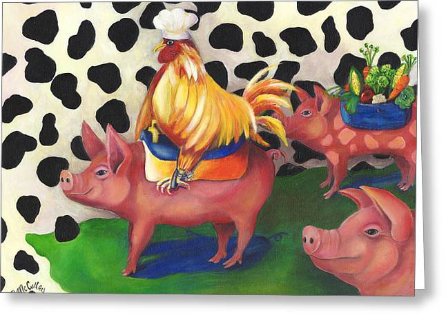 Free Range Rider Greeting Card by Debbie McCulley