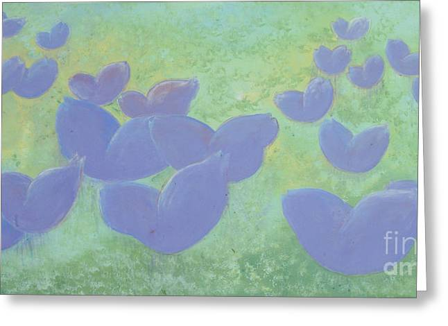 Free Your Hearts Green Lilac Abstract By Chakramoon Greeting Card by Belinda Capol