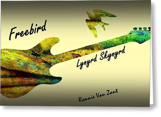 Freebird Lynyrd Skynyrd Ronnie Van Zant Greeting Card