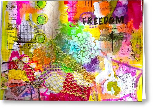 Freedom  Greeting Card by Corina  Stupu Thomas