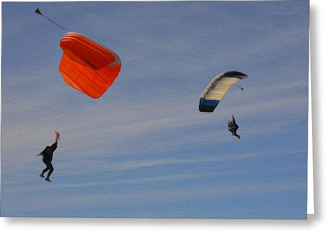 Freedom In The Skies Greeting Card by Jimi Bush