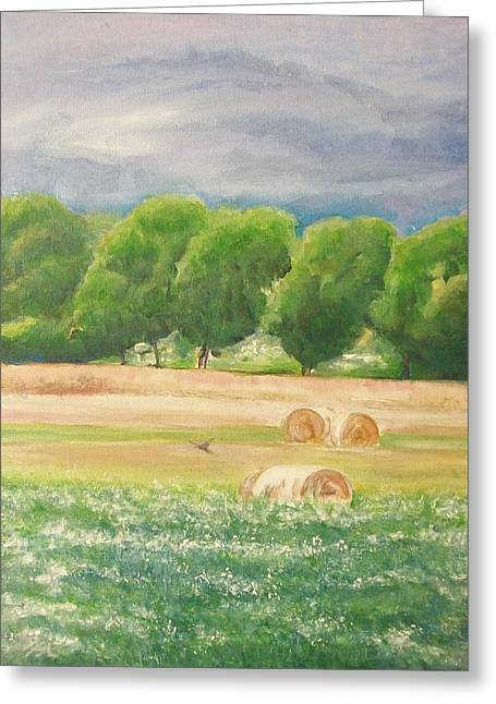 Greeting Card featuring the painting Freedom by Jane  See