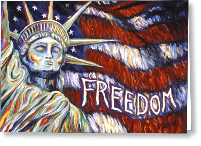Freedom Greeting Card by Linda Mears