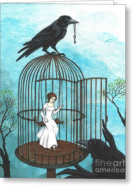 Freedom Greeting Card by Margaryta Yermolayeva