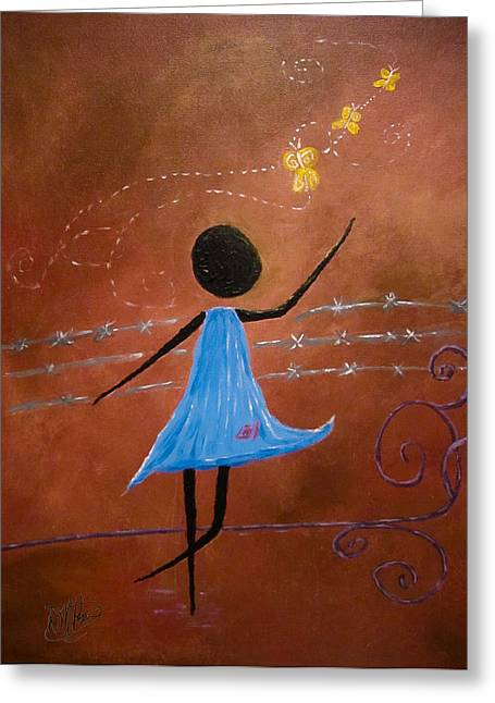 Freedom Greeting Card by Michele Perry